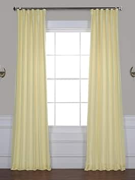 Vintage Textured Faux Dupioni Silk Blackout Curtains