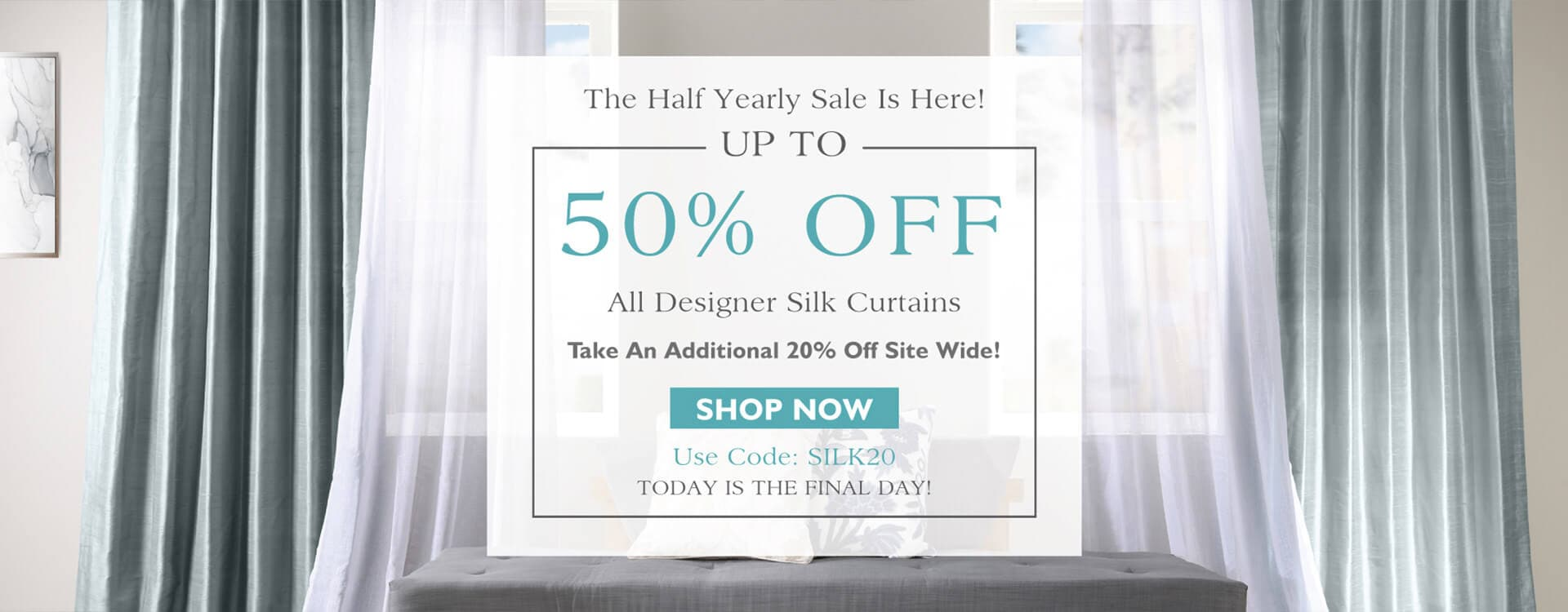 Up To 50% Off Designer Silk Curtains
