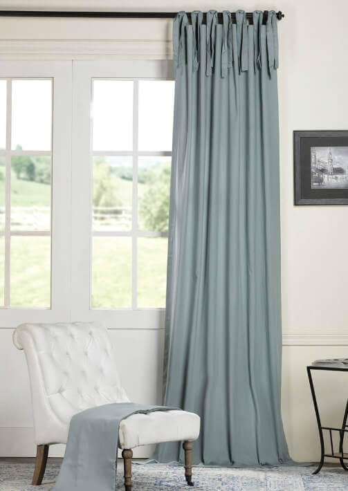 Tie Top Cotton Curtains