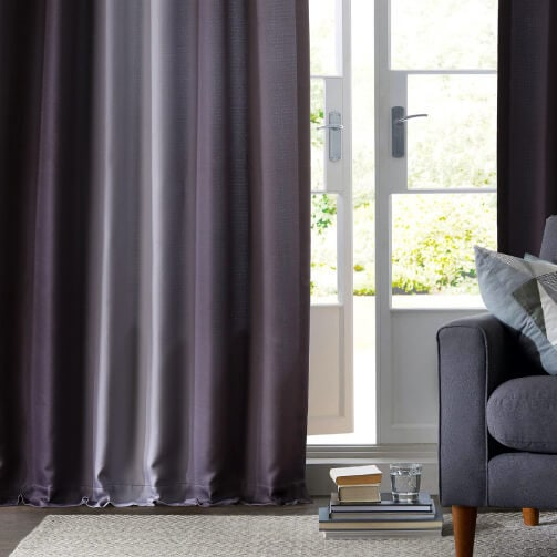 Bordeaux Striped Faux Linen Sheer