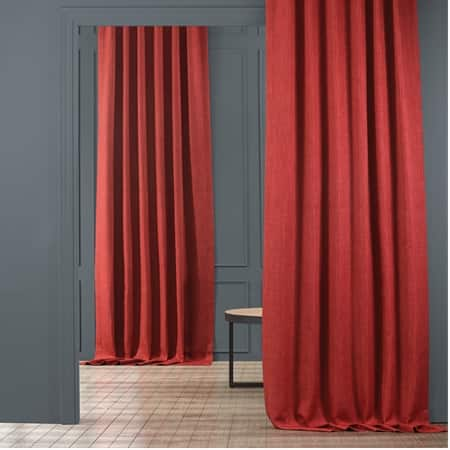 Cardinal Faux Linen Blackout Curtain