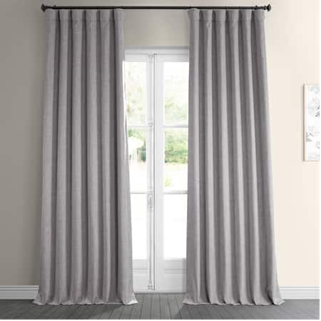 Clay Faux Linen Blackout Curtain