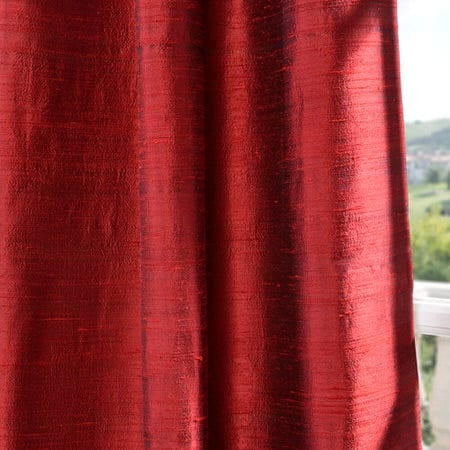 Chili Pepper Textured Dupioni Silk Fabric