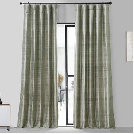 Turbulence Grey Textured Dupioni Silk Curtain