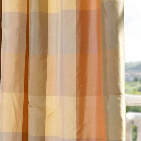 Genoa Silk Taffeta Plaid Fabric
