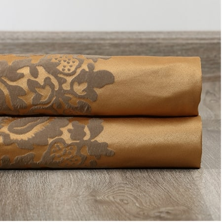 Ellaria Olympic Bronze Faux Silk Jacquard Fabric