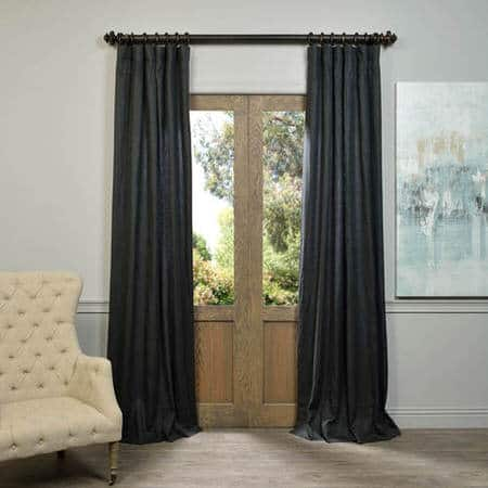 Buy True Navy French Linen Curtain Half Price Drapes