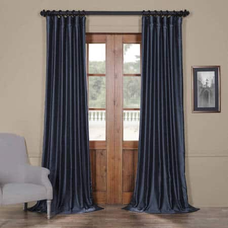 Egyptian Blue Yarn Dyed Faux Dupioni Silk Curtain