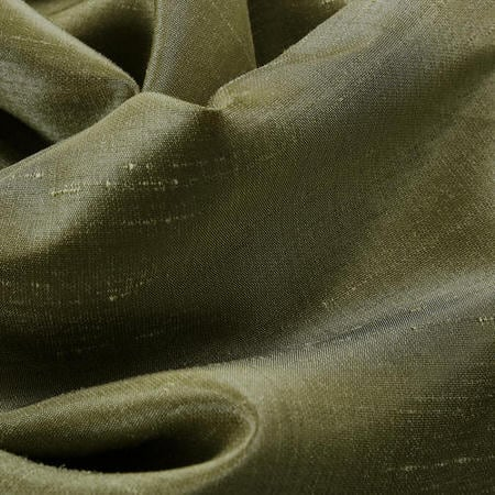 Oregano Green Vintage Textured Faux Dupioni Silk Fabric