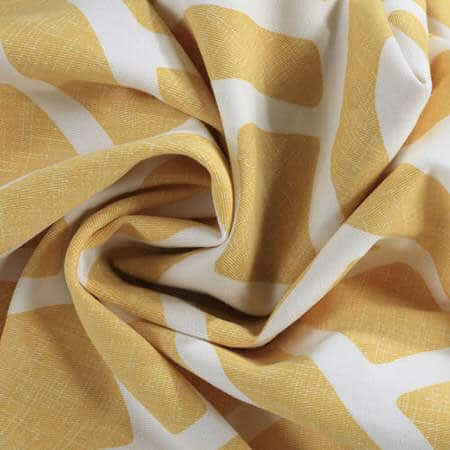 Martinique Yellow Printed Cotton Fabric