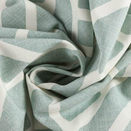 Martinique Aqua Printed Cotton Fabric