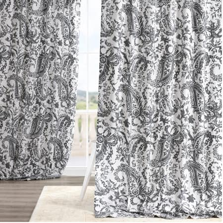 Edina Grey Printed Cotton Curtain