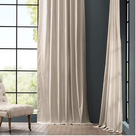 Hazelwood Beige Solid Cotton Curtain