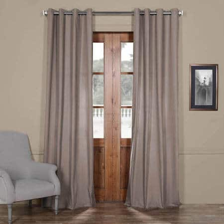 Millstone Gray Solid Cotton Grommet Curtain
