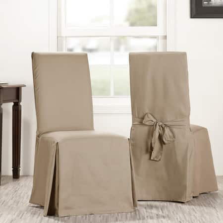 Sandstone Solid Cotton Chair Covers (Sold As Pair)
