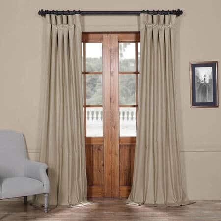 Sandstone Solid Cotton Curtain
