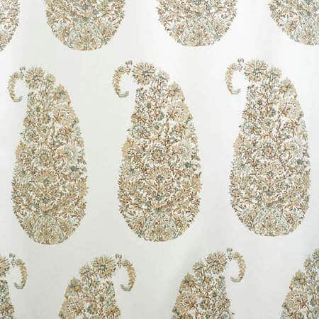 Paisley Park Tan Printed Cotton Twill Fabric