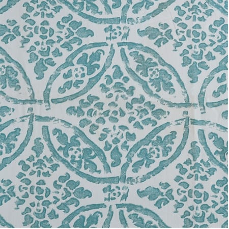 Catalina Aqua Printed Cotton Twill Fabric