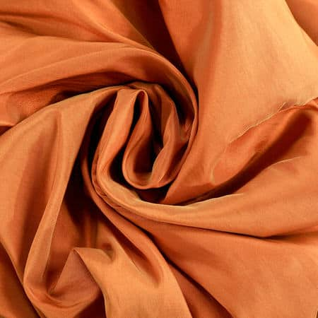 Harvest Orange Faux Silk Taffeta Fabric