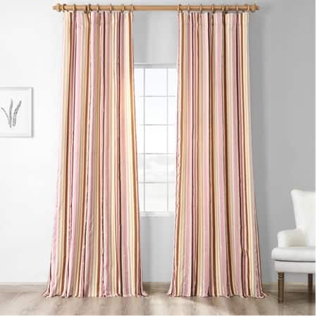 Milton Luxury Faux Silk Stripe Curtain
