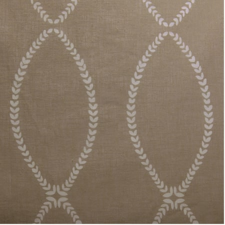 Grecian Taupe Printed Sheer Fabric