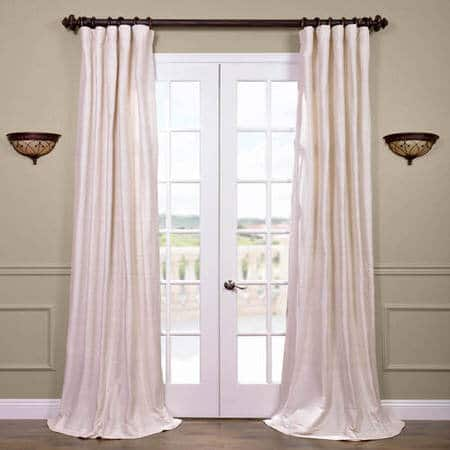 Coconut Raw Silk Curtain
