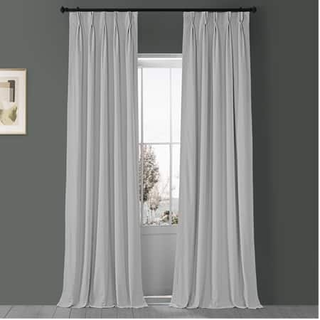 Signature Off White Pleated Blackout Velvet Curtain