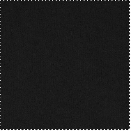 Signature Warm Black Velvet Fabric
