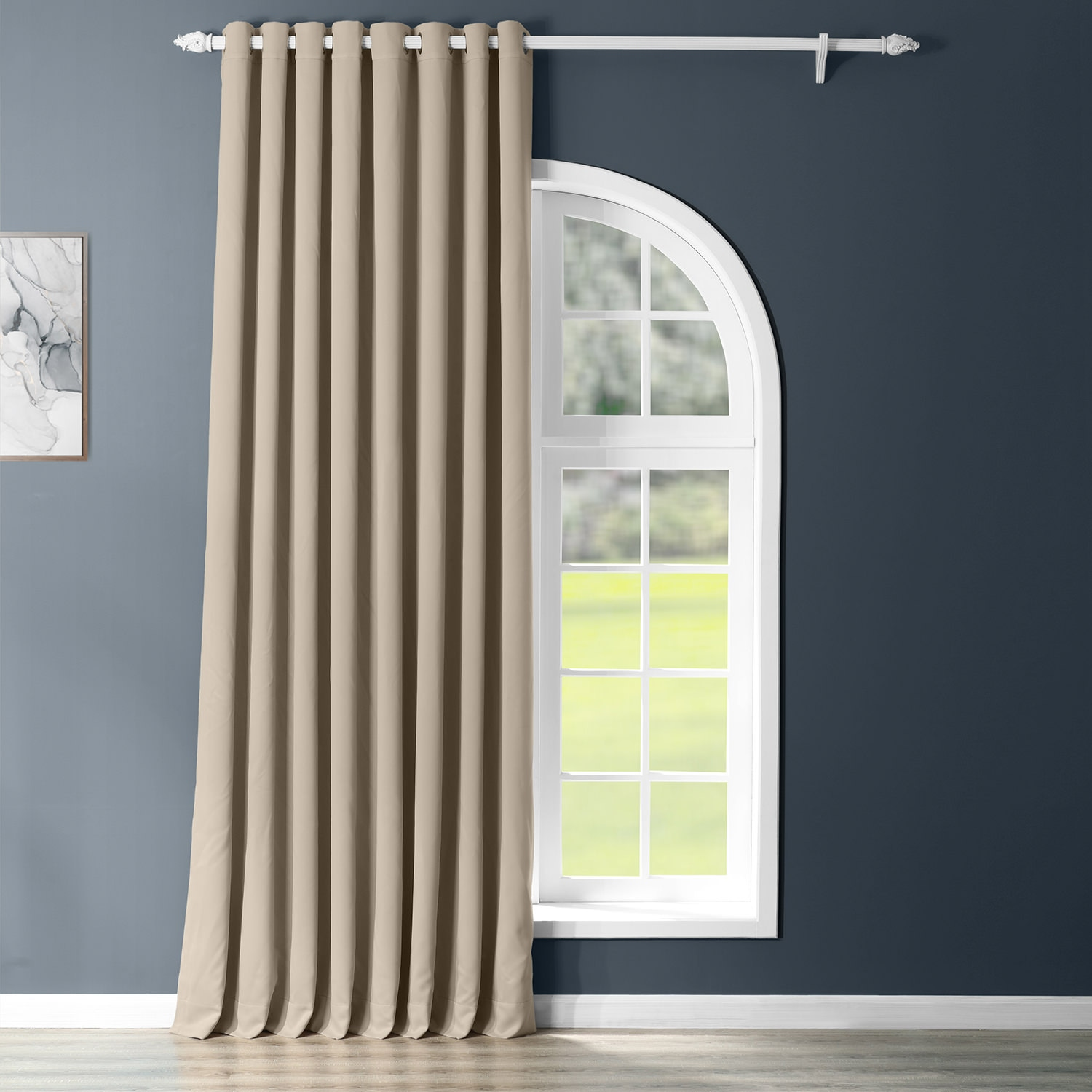Classic Taupe Grommet Extrawide Blackout Curtain