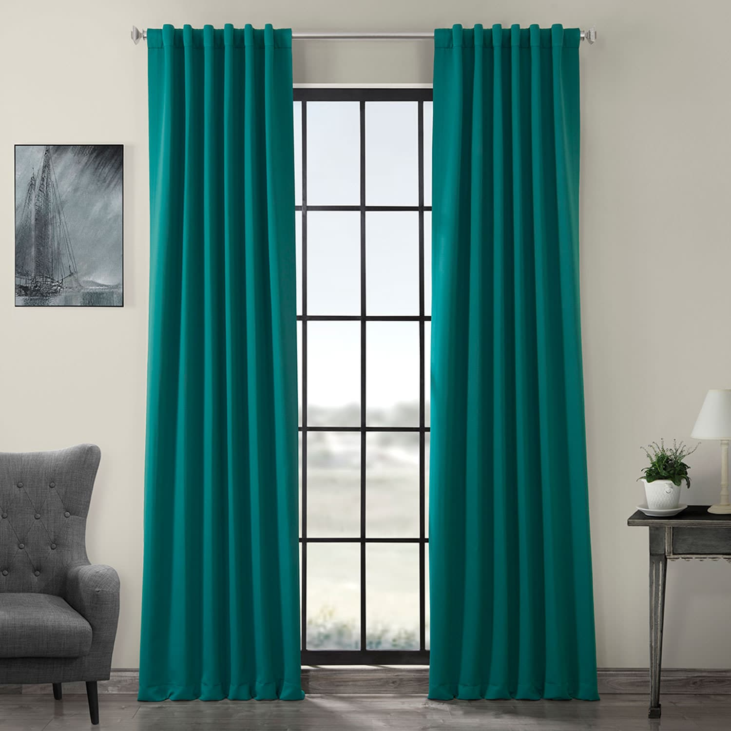 Nordic Green Blackout Curtain