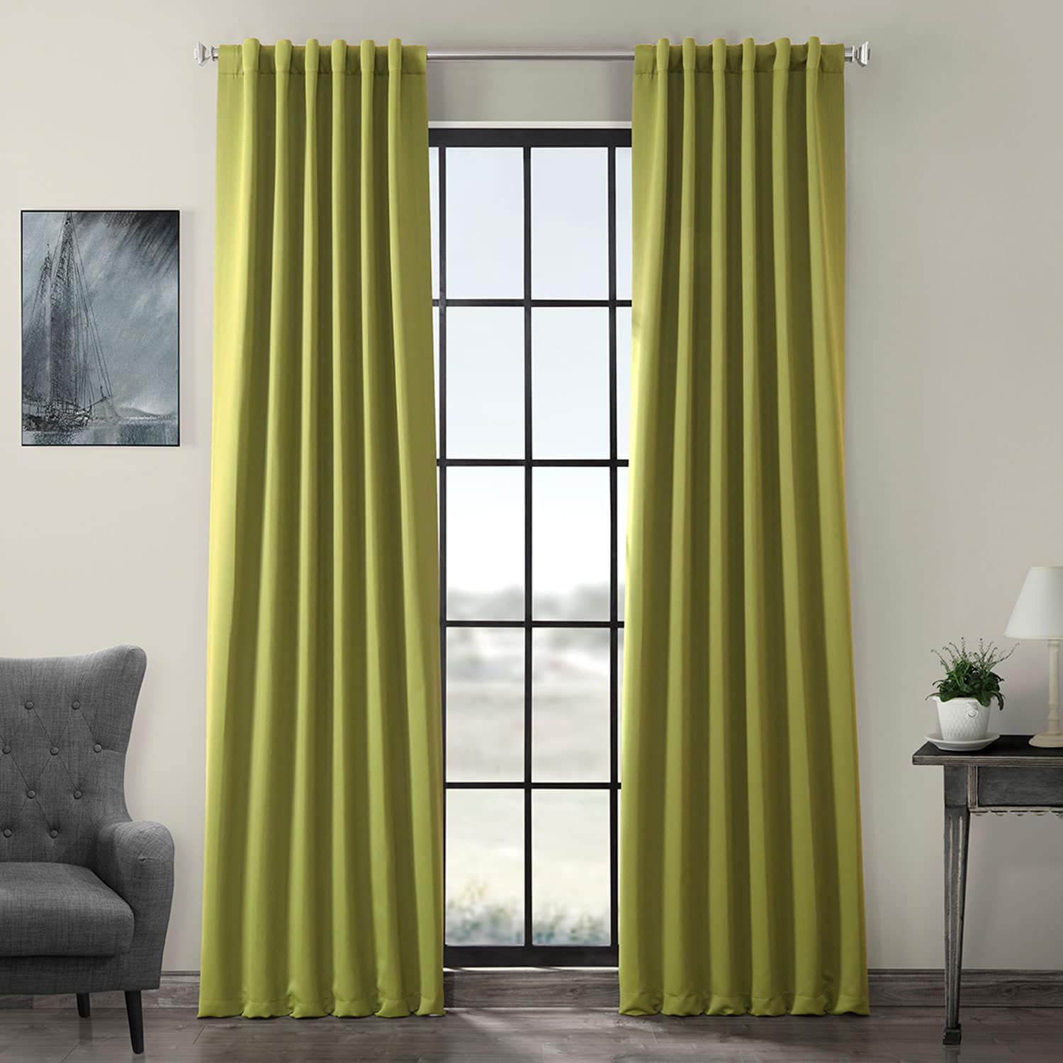 Moss Green Blackout Curtains & Drapes