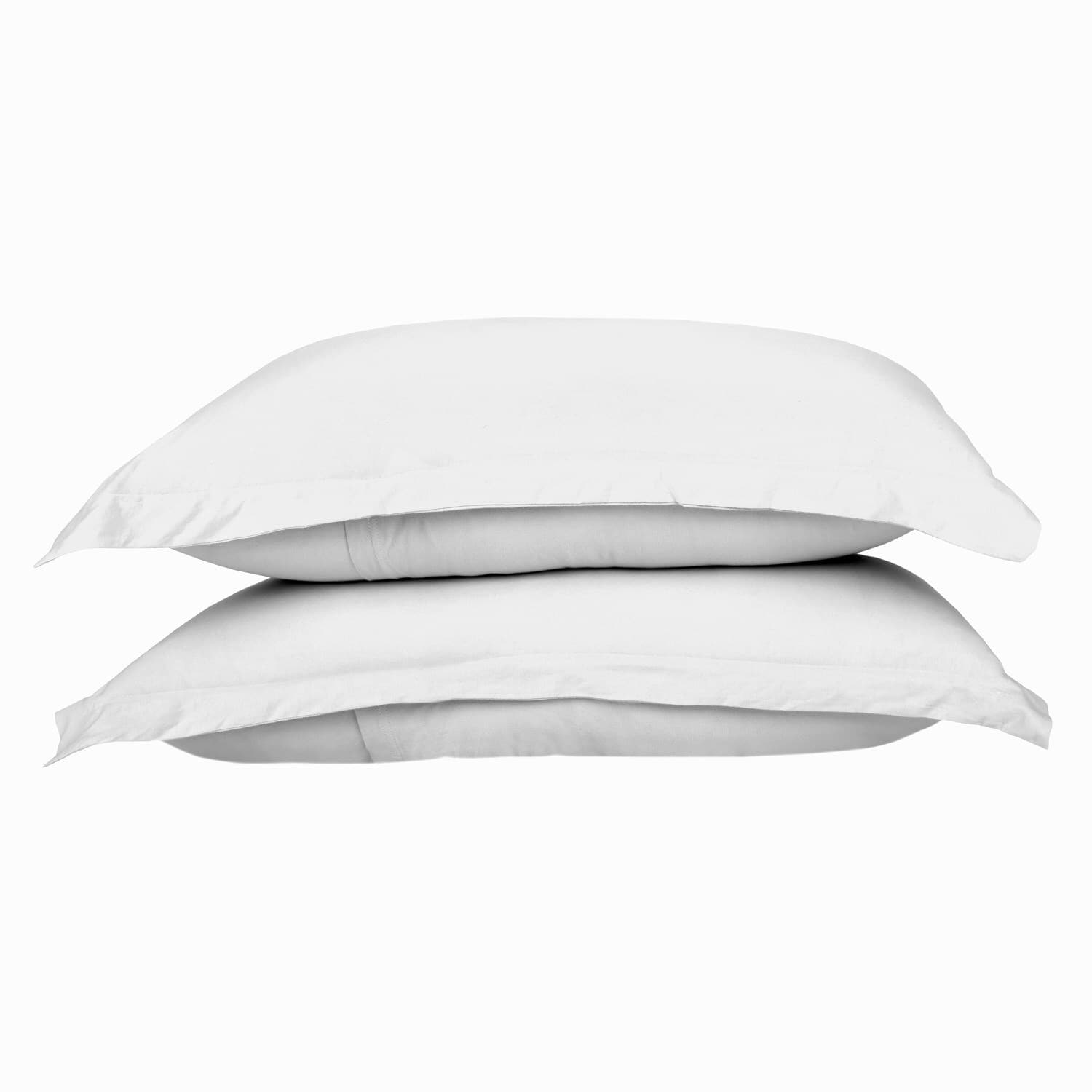 100% Premium Combed Cotton Jersey White Fitted Pillow Case Set With Aloe Vera Treatment