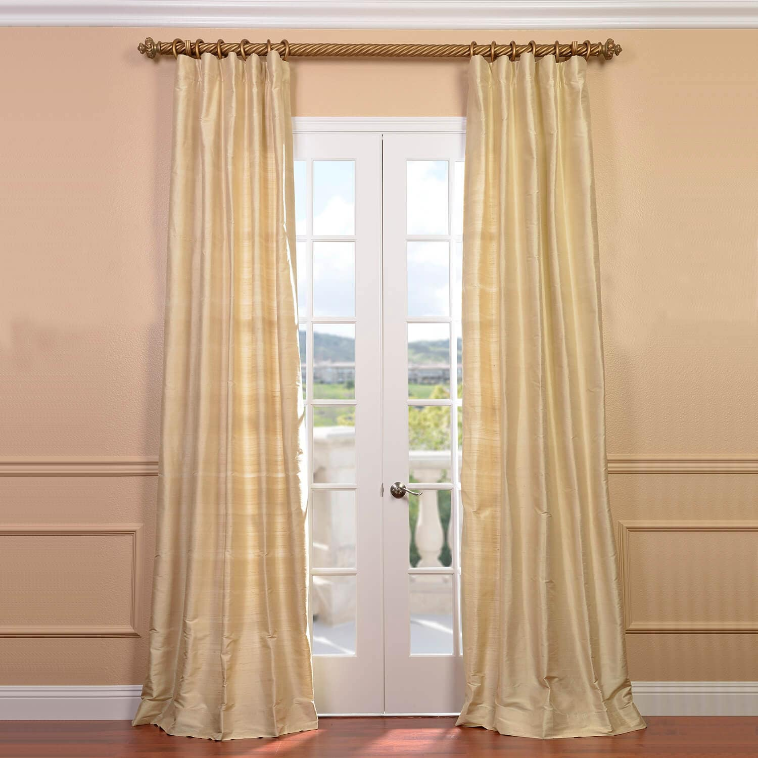 Off White Silk Curtains Half Price Drapes