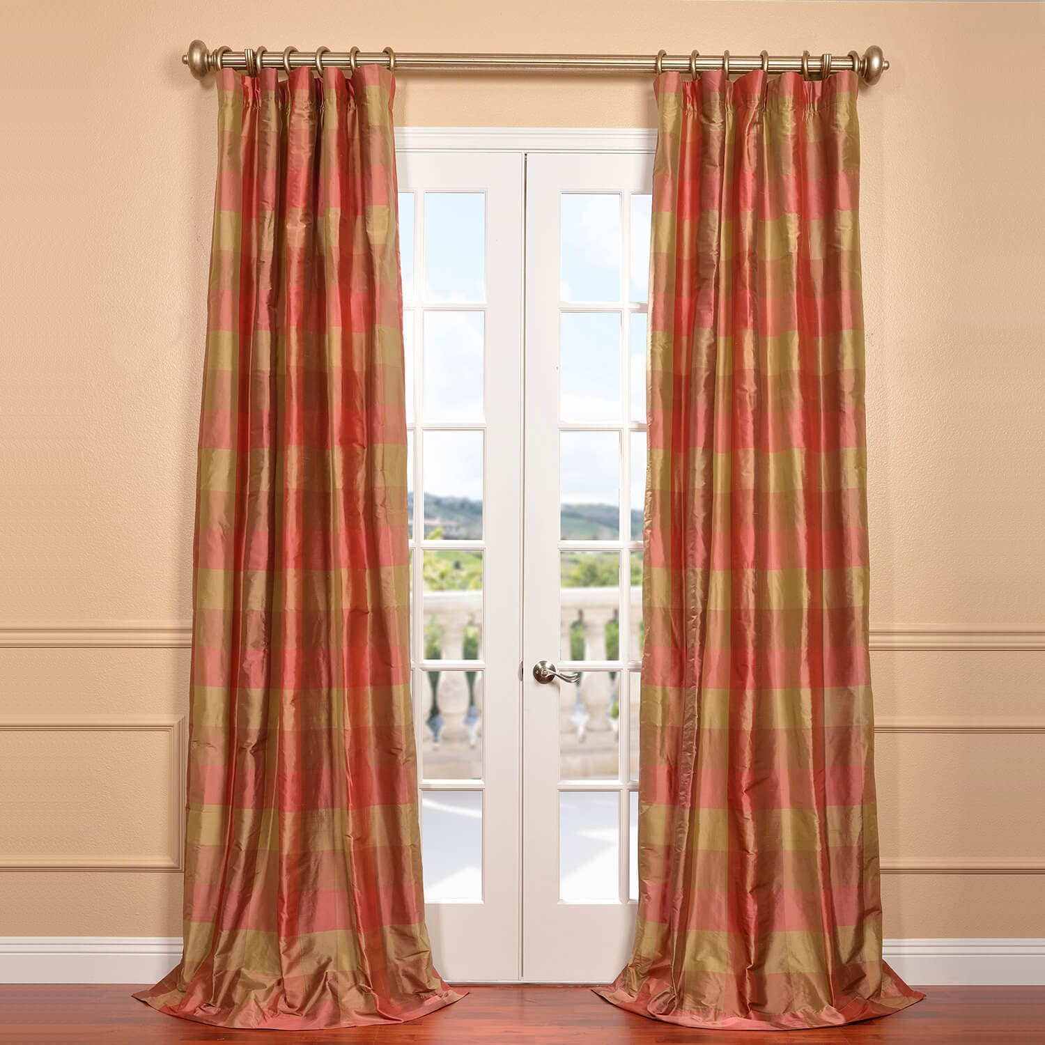 Victorian velvet curtains -  Plush Velvet Curtains By Get Derby Silk Plaid Curtains And Drapes