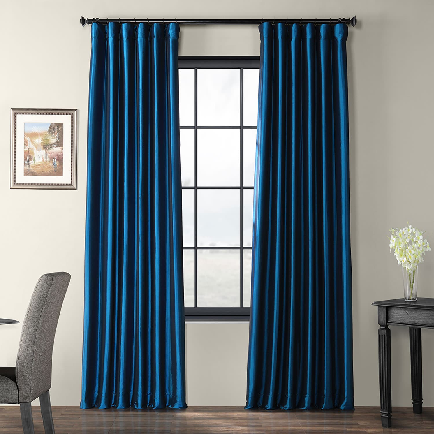 Buy azul faux silk taffeta curtains drapes for Where to buy drapes