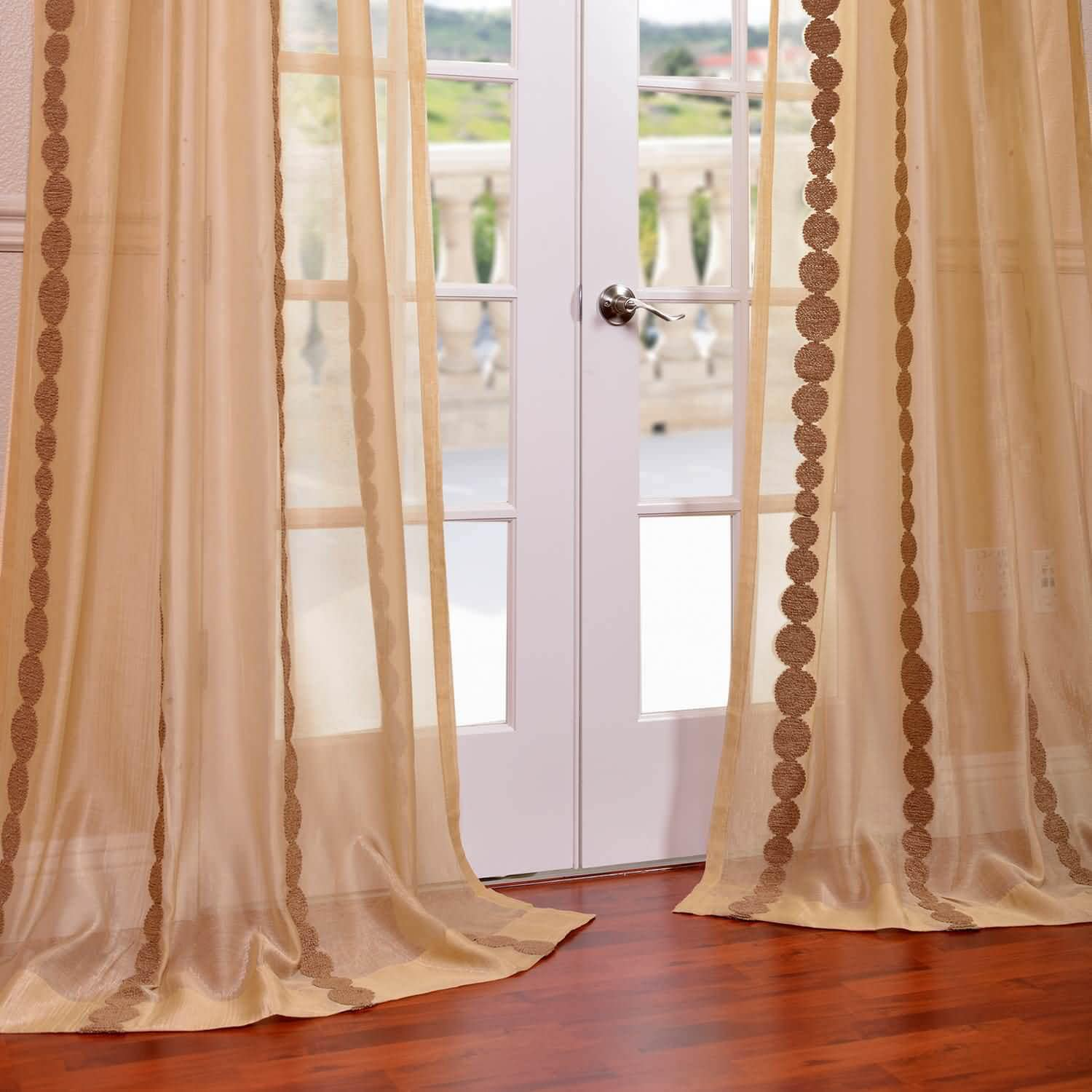 Cleopatra Gold Embroidered Sheer Curtains Amp Drapes