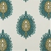 Mayan Teal Printed Cotton Fabric