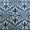 Iron Gate Blue Designer Printed Blackout Swatch