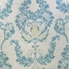 Terrace Teal Printed Faux Linen Sheer Swatch